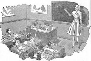 woman teacher 1950