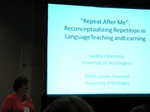 Diane Larsen-Freeman in action at TESOL