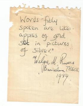 Wilga rivers quote